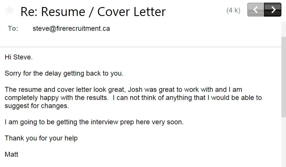 firefighter resume cover letter